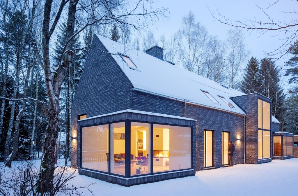 Ny tegelvilla i Veberöd. Arkitekt Marco Pusterla FOJAB.